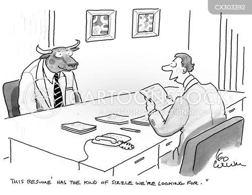 curriculum vitae cartoon