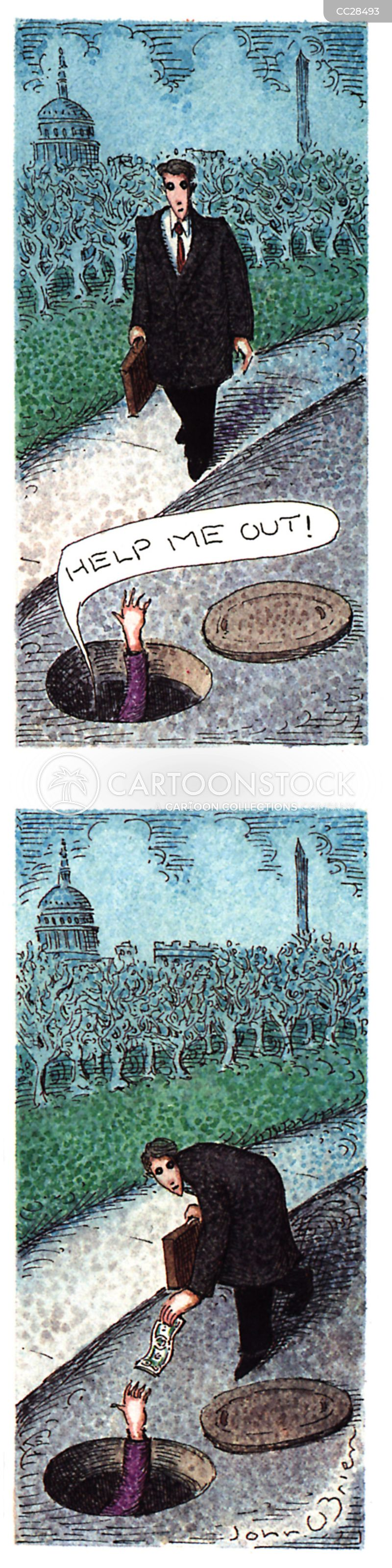 Drain-holes cartoon