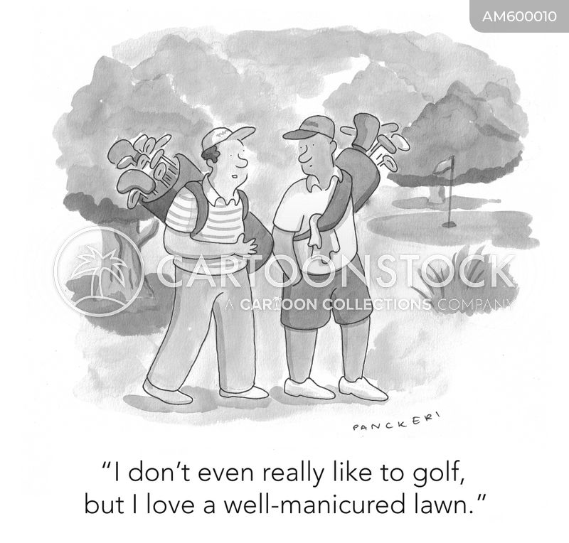 golf green cartoon