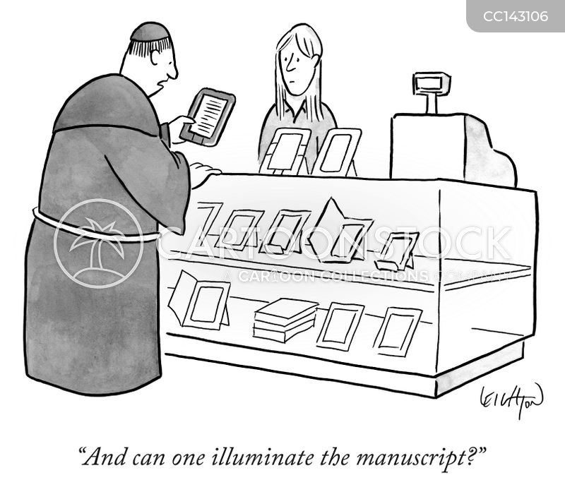 e-reader cartoon