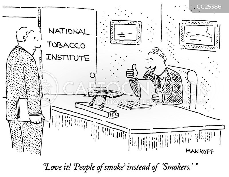 smoking cartoon