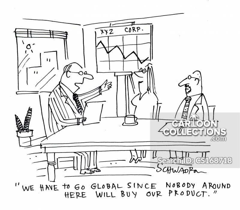 going global cartoon
