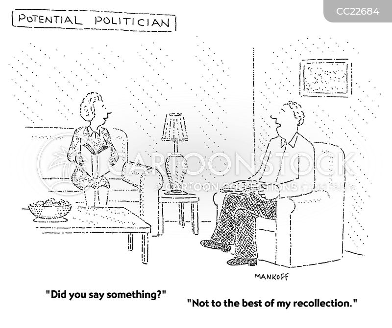 Political Candidate cartoon