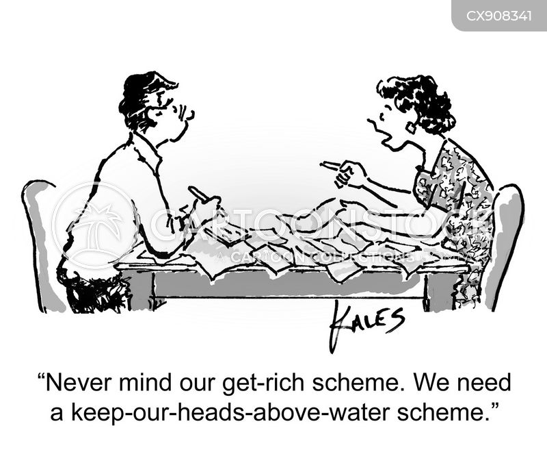 getting rich cartoon