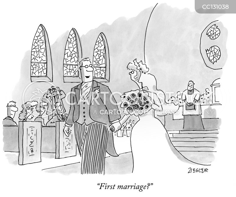 walk down the aisle cartoon