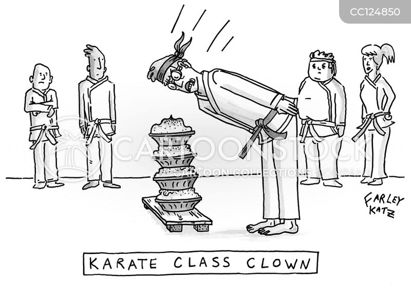 karate chop cartoon