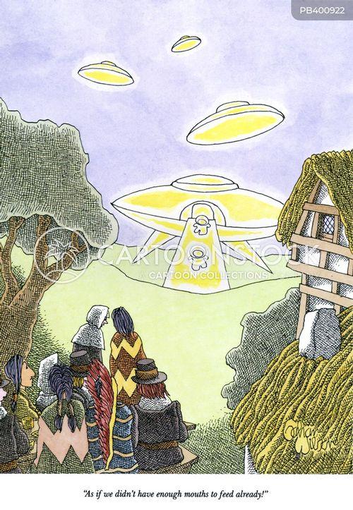 alien invasion cartoon