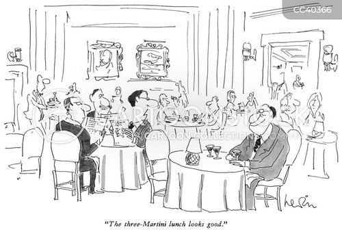 posh restaurant cartoon