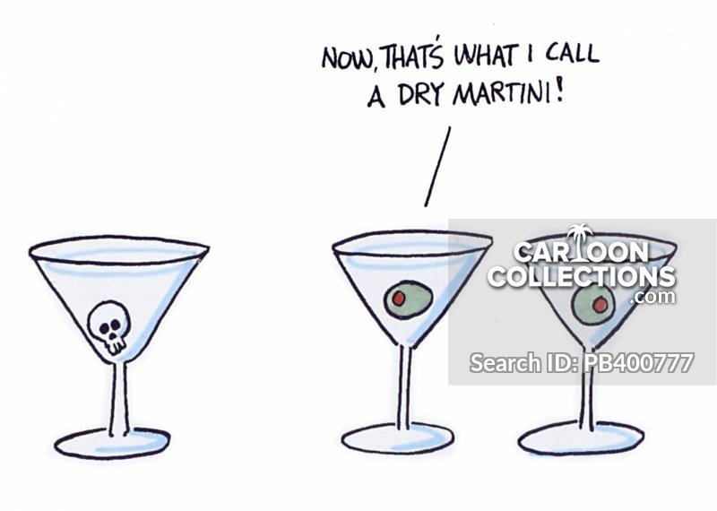 Dry Martinis cartoon