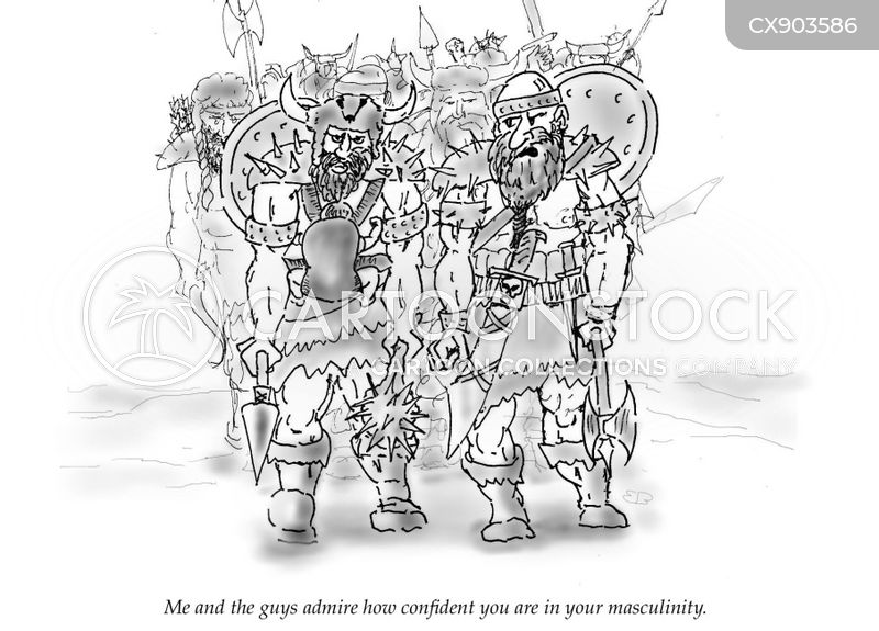 macho males cartoon