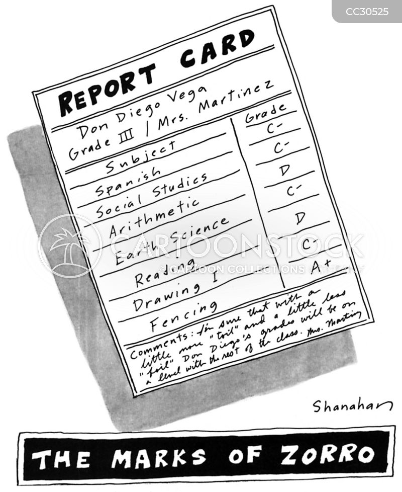 Report Cards cartoon