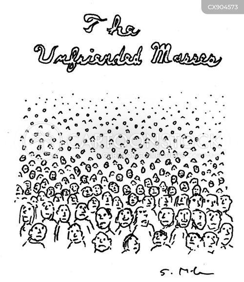 unwashed masses cartoon