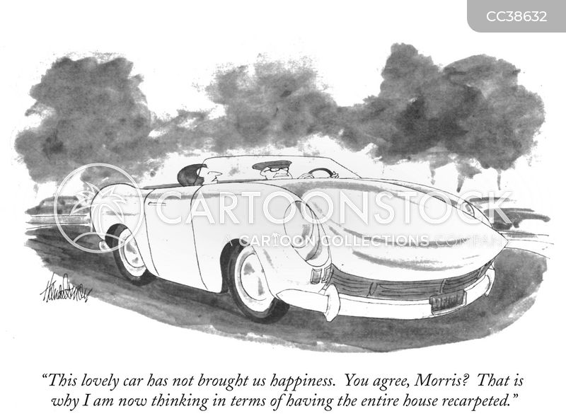 drives cartoon