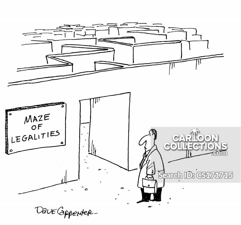 complex legal system cartoon