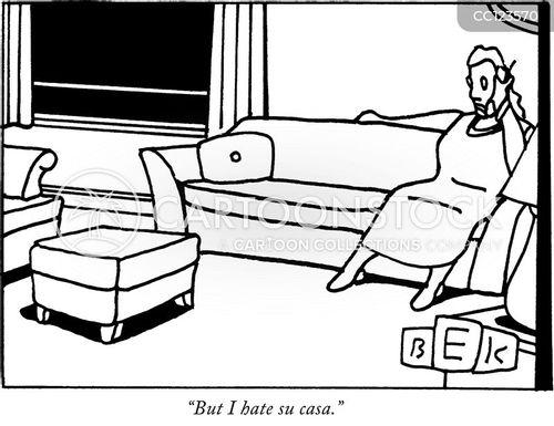 welcoming cartoon