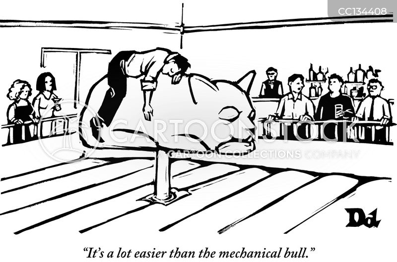 mechanical bulls cartoon