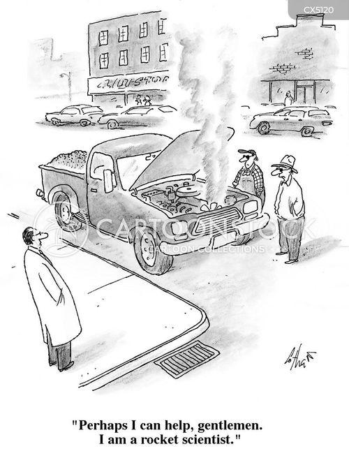 car engines cartoon