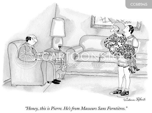masseur cartoon
