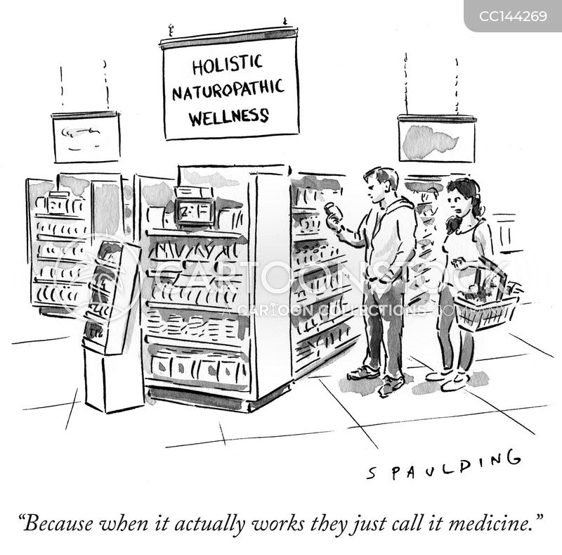 holistic medicines cartoon