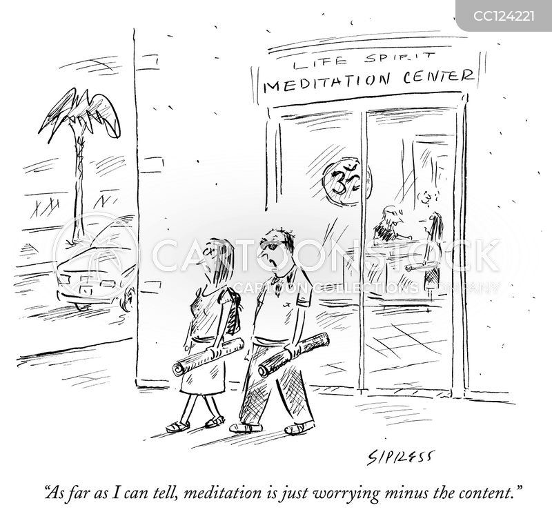 Meditation cartoon