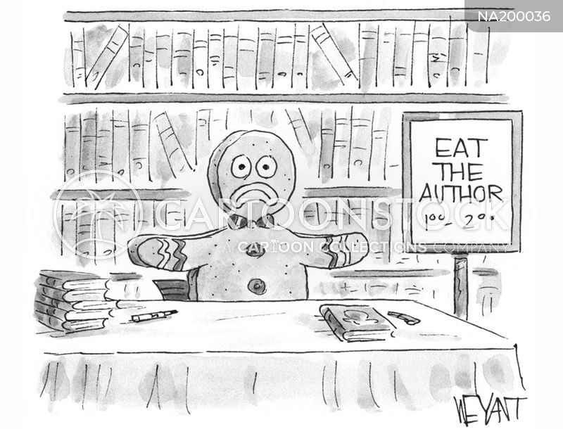 book signings cartoon