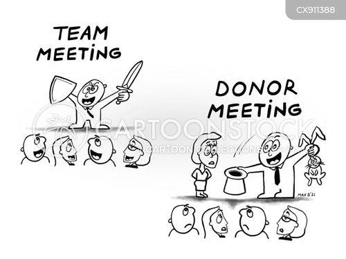 charity donation cartoon