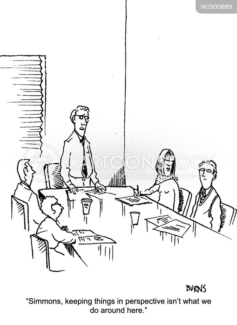 work meeting cartoon