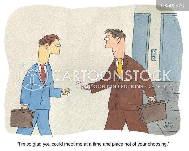 chance meeting cartoon