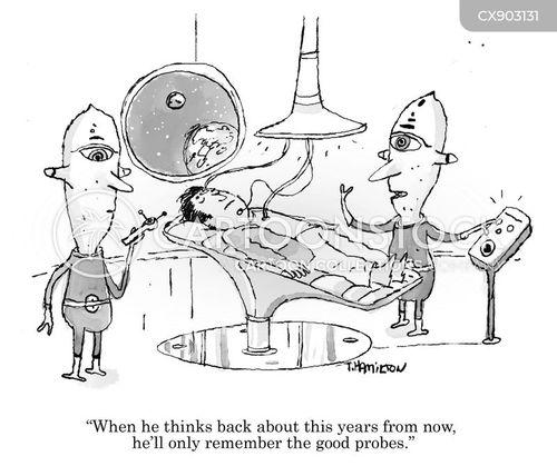 alien probes cartoon