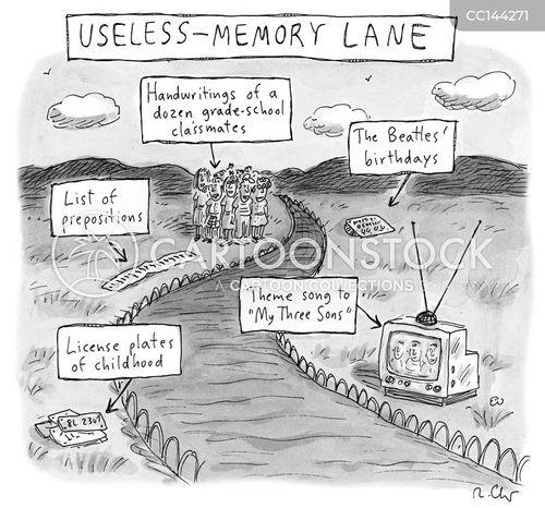 memory lane cartoon