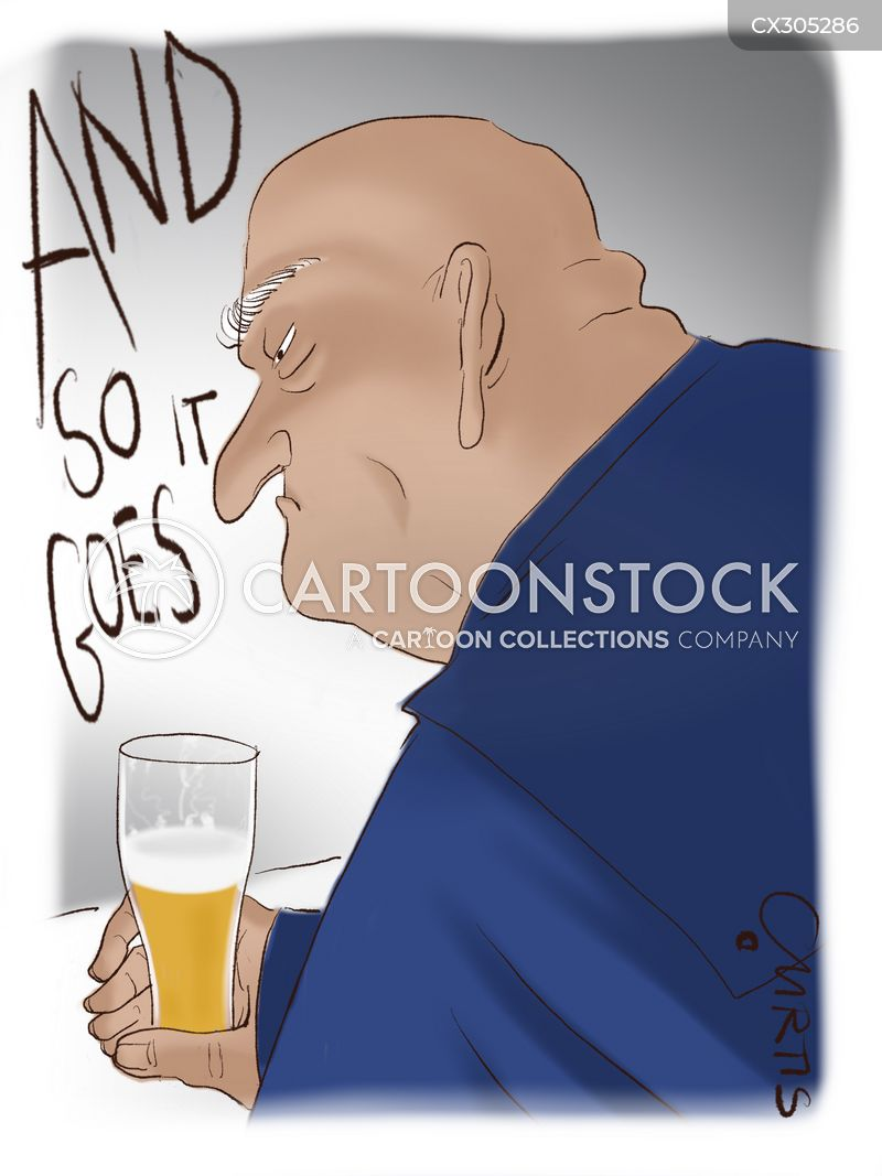 bald men cartoon