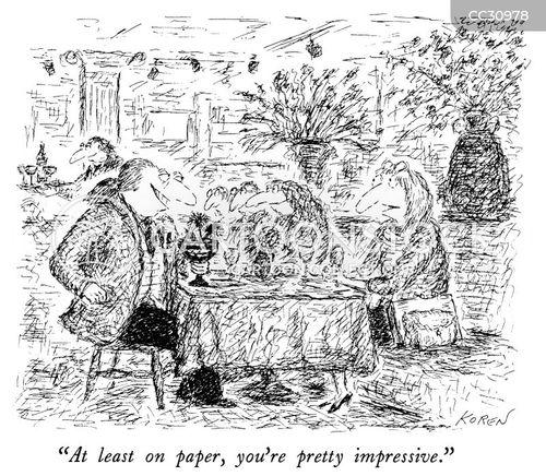 on paper cartoon