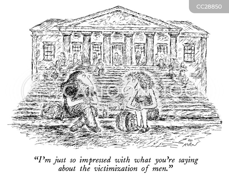 college campus cartoon
