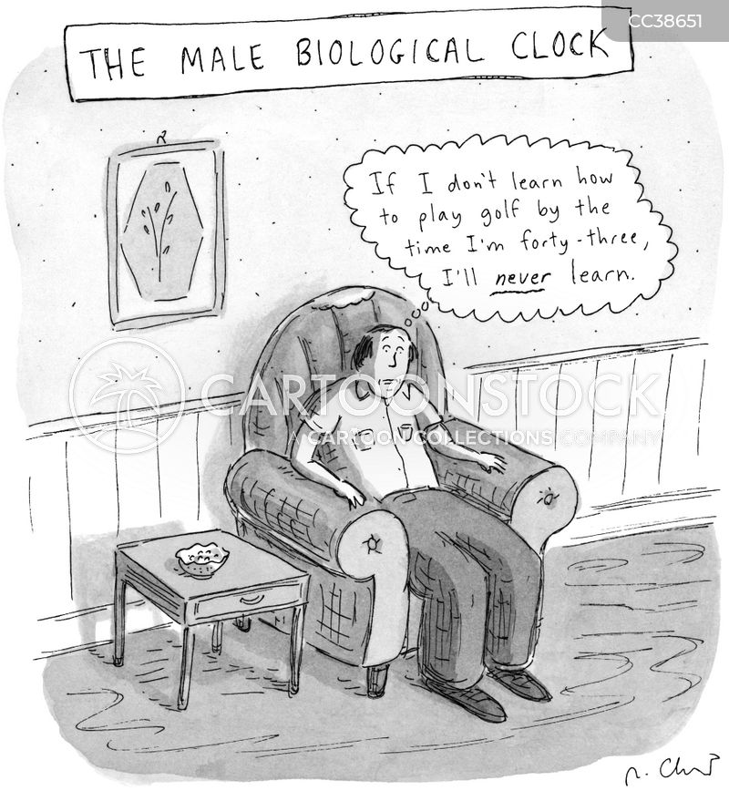 midlife crisis cartoon