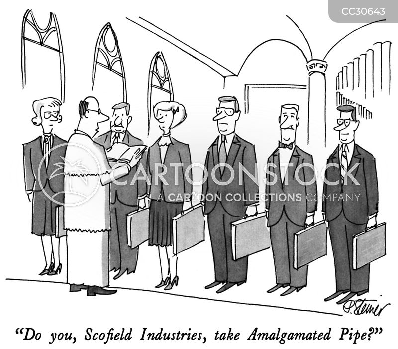 companies cartoon