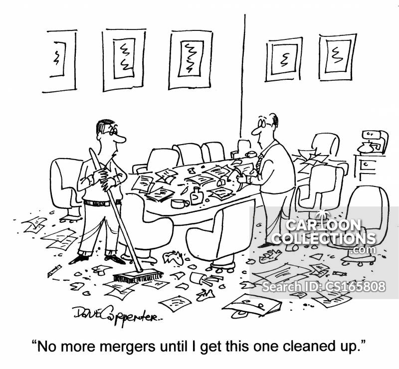 Cleaning Staff cartoon