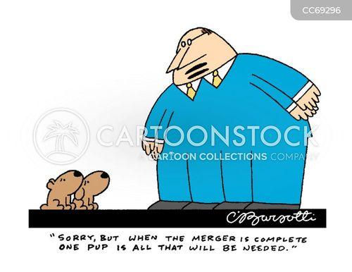 business mergers cartoon
