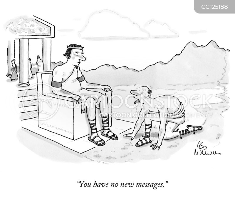 message cartoon