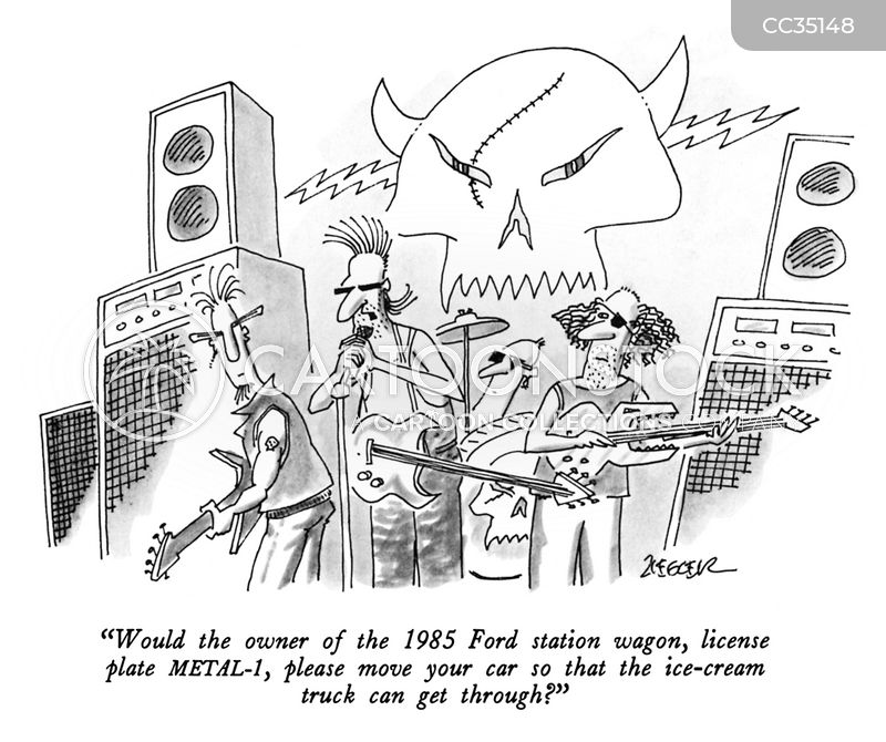 punk rocker cartoon