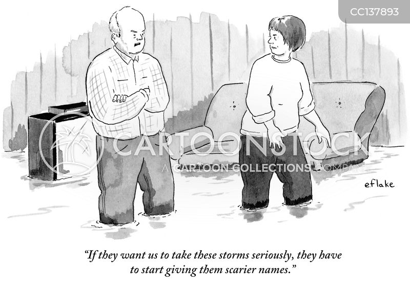 Hurricane Name cartoon