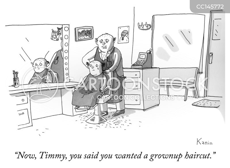 going bald cartoon