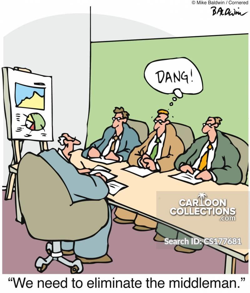 down-sixing cartoon