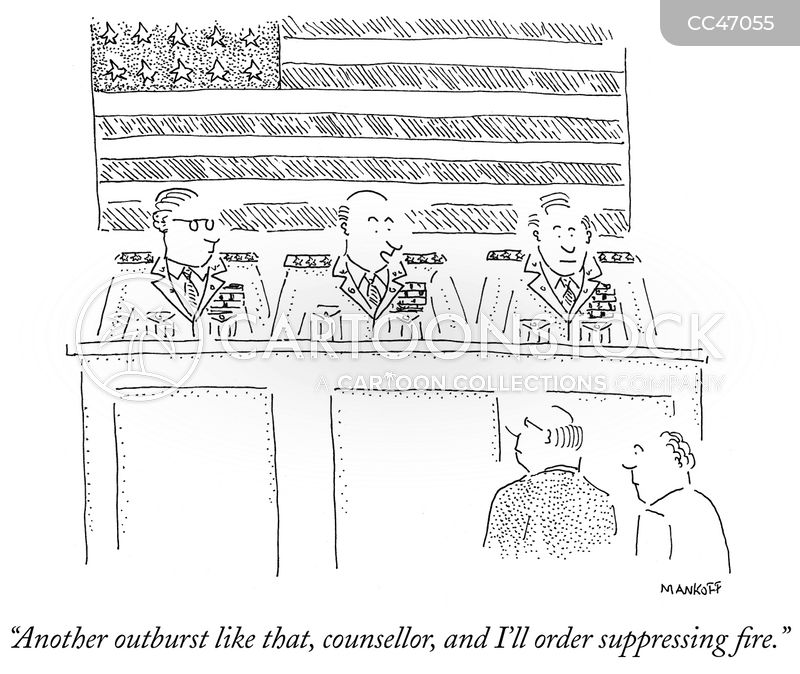 Legal Proceeding cartoon