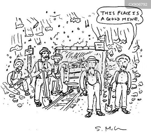 gold mine cartoon