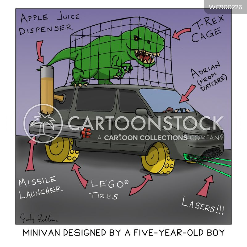 van cartoon