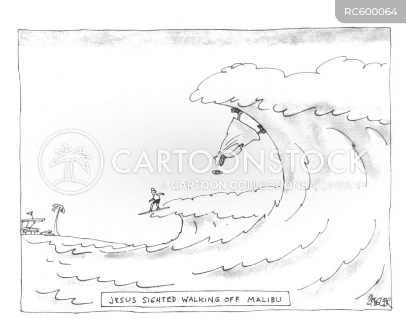 walks on water cartoon