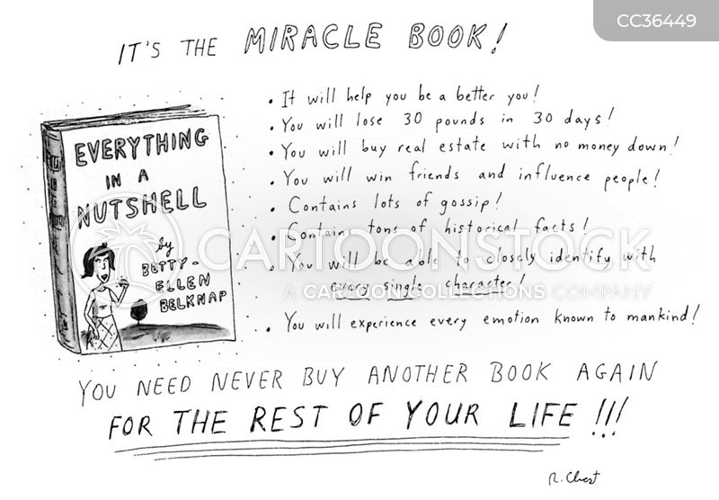 self-help cartoon
