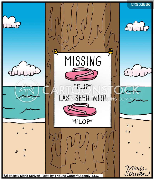 missing poster cartoon