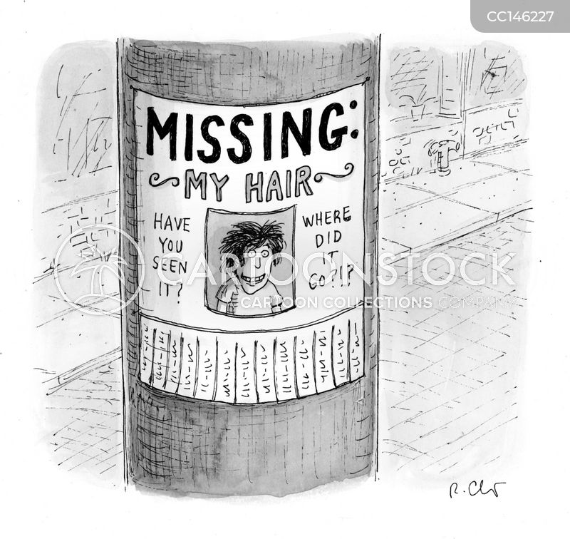 missing person cartoon