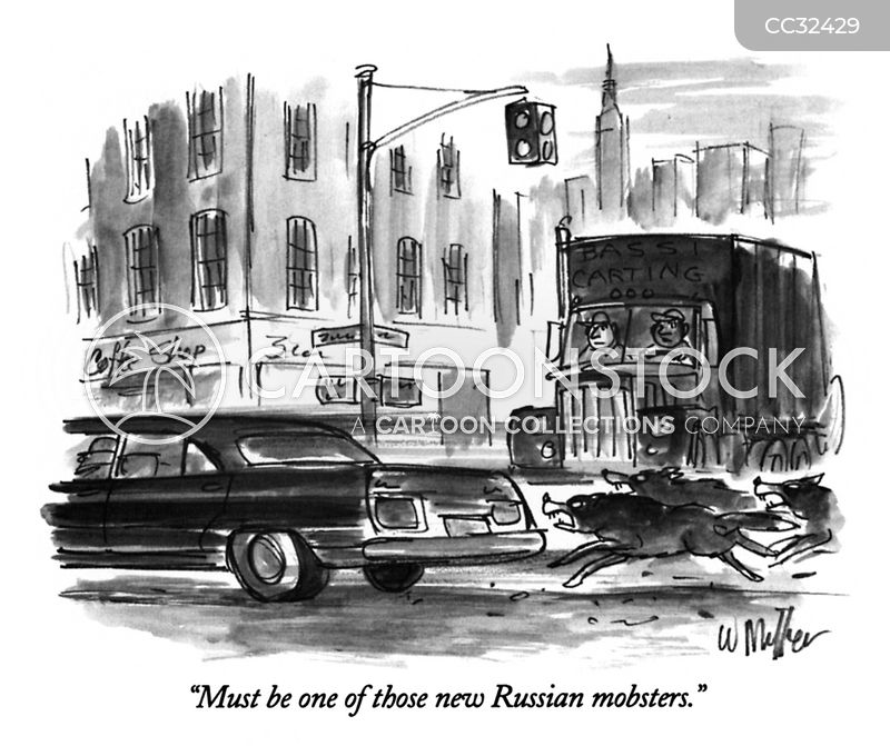 Russian Mafia cartoon